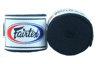 (460cm , Black) - Fairtex Elastic Cotton Handwraps HW2-120 and 460cm - Full Length Hand Wraps. Many Colours
