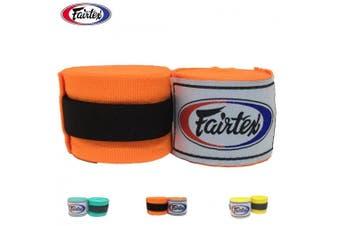 (300cm , Orange) - Fairtex Elastic Cotton Handwraps HW2-120 and 460cm - Full Length Hand Wraps. Many Colours