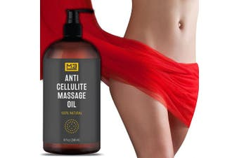 Premium Anti Cellulite Treatment Massage Oil - All Natural Ingredients – Penetrates Skin 6X Deeper Than Cellulite Cream - Targets Unwanted Fat Tissues & Improves Skin Firmness
