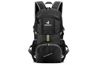 (Black) - NEEKFOX Lightweight Packable Travel Hiking Backpack Daypack,35L Foldable Camping Backpack,Ultralight Outdoor Sport Backpack