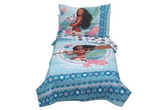 Disney Moana Aqua Toddler Bedding Set (4pc)