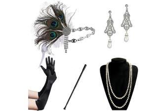 (Accessory 8) - ArtiDeco 1920s Accessories Set Flapper 20s Gatsby Costume Accessories Set Roaring 20s Flapper Accessories