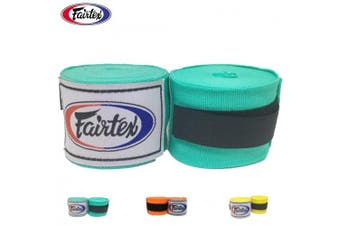 (300cm , Mint Green) - Fairtex Elastic Cotton Handwraps HW2-120 and 460cm - Full Length Hand Wraps. Many Colours