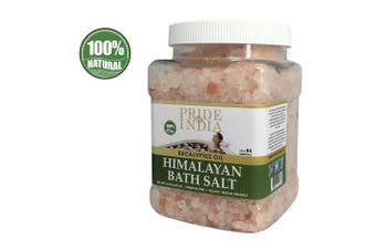 (Himalayan Pink Bath Salt w/ Eucalyptus Oil, 1.1kg Jar) - Pride Of India - Himalayan Pink Bathing Salt - Enriched w/ Eucalyptus Oil and 84+ Natural Minerals, 1.1kg (1180ml) Jar