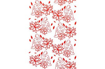 Couture Creations Embossing Folder Poinsettia Lullaby Wrapped in Joy Collection, Transparent
