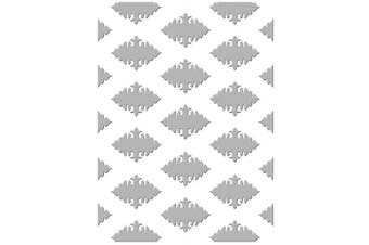 Couture Creations Embossing Folder Ornate Diamonds Gift Wrapping Collection, Transparent