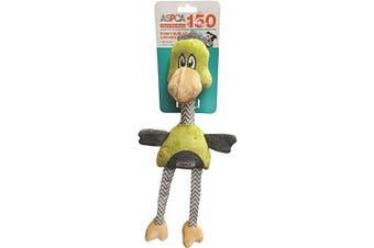(Green) - ASPCA Funky Burlap Chicken Dog Toy