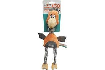 (Orange) - ASPCA Funky Burlap Chicken Dog Toy