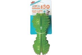 (Green) - ASPCA Stuff-A-Bone Treat Dog Toy