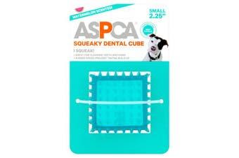 (Blue) - ASPCA 6.4cm Squeaky Dental Cube Dog Toy