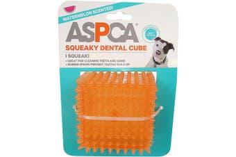 (Orange) - ASPCA 6.4cm Squeaky Dental Cube Dog Toy