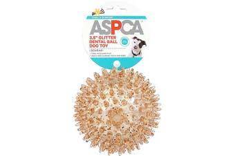 (Orange) - ASPCA 8.9cm Glitter Dental Ball Dog Toy