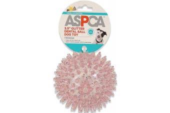 (Pink) - ASPCA 8.9cm Glitter Dental Ball Dog Toy