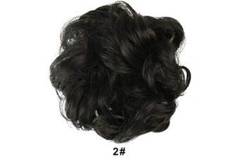 (2# Darkest Brown Near Near Black) - BARSDAR Messy Hair Bun Extensions Hairpiece for Women Updo Scrunchie Hair Piece (2# Darkest Brown Near Near Black)