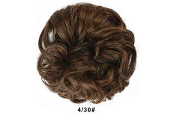 (430# Dark Brown mix Light Auburn) - BARSDAR Messy Hair Bun Extensions Hairpiece for Women Updo Scrunchie Hair Piece (430# Dark Brown mix Light Auburn)