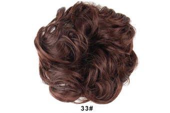 (33# Dark Auburn Brown) - BARSDAR Messy Hair Bun Extensions Hairpiece for Women Updo Scrunchie Hair Piece (33# Dark Auburn Brown)