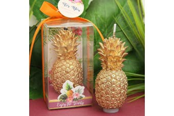 Creative Golden Pineapple Smokeless Candle For Birthday Or For Party