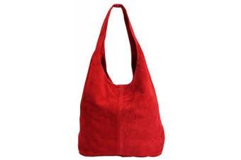 (Red) - Women's suede handbag shoulder bag leather bag shopper bag wl818