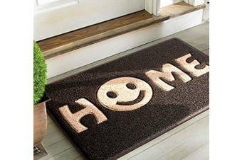 (Black Khaki Smile) - Mrs Sleep Smile Home Print Front doormat Entrance Welcome Mat 45 * 75cm/17.7 * 29.5in