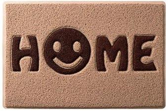 (Khaki Grape Smile) - Mrs Sleep Sweet Home Smile Print Front Door Mat Welcome Door Mat Non Slip Mat Washable Entrance Floor Mat 45*75cm/17.7*29.5in(khaki grape smile)