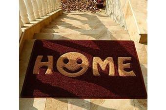 (Grape Khaki Smile) - Mrs Sleep Sweet Home Smile Print Front Door Mat Welcome Door Mat Non Slip Mat Washable Entrance Floor Mat 45*75cm/17.7*29.5in (grape khaki smile)