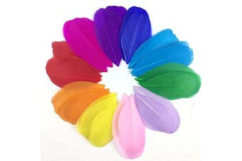 (Light purple) - Celine lin 100 PCS Exquisite Leaf Goose Feathers For DIY Art,Home Party or Wedding 2-3.2inch(5-8cm),Light purple