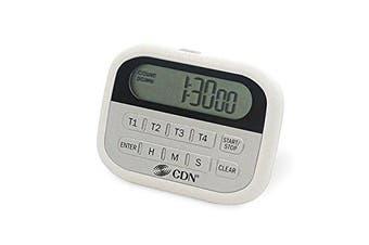 Component Design Northwest PT2 4-Event Timer & Clock Digital, White