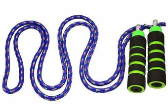 (2.1m, Blue) - Kids Jump Rope - Anna's Rainbow Rope - Durable Child Friendly Skipping Rope - Exercise Toy for Playground with Lightweight Foam Handles and Vibrant Colours