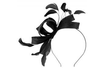 (Black) - Failsworth Millinery Wide Loops Fascinator
