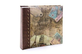"(15cm  x 10cm ) - Kenro Holiday and Travel Series Memo Photo Album, Old World Map Design, for 200 Photos 6x4"" – HOL118"