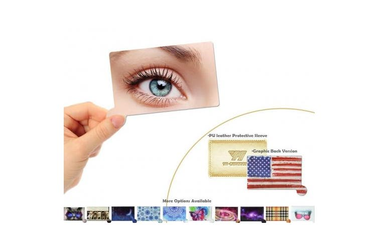 (Flag) - Pocket Mirror Compact Hand Held Unbreakable, YH-DIMENSION, Small Purse Wallet Cosmetic Mirror, Clear Refelction No Distortion, Beautiful graphic Back, Light Weight Thin Slim, with Protective Sleeve