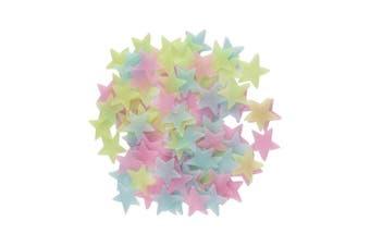 AllRight 100 Pcs Wall Glow In The Dark Kids Bedroom Nursery Room Decor UK Colour Stars Fluorescent Stickers