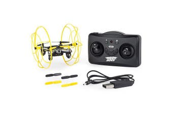 (Yellow) - Air Hogs - Hyper Stunt Drone - Unstoppable Micro RC Drone - Yellow