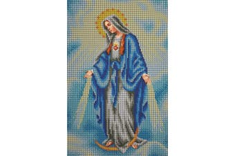Bead Embroidery kit Immaculate Conception Needlepoint Handcraft Tapestry kit religion icon