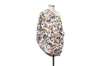 (Indigo) - Bebe au Lait Premium Muslin Nursing Scarf, Lightweight and Breathable Cotton, One Size Fits All - Indigo