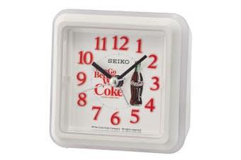 Seiko Alarm Clock, Plastic, white, 8.6 x 8.6 x 4.6 cm