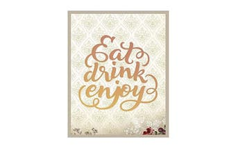 (Eat Drink Enjoy) - Couture Creations Eat Drink Enjoy Intricutz Dies, Metal, Black