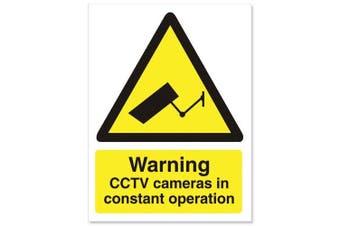 Stewart Superior Caution CCTV Camera Sign Self Adhesive Vinyl 150x200mm Ref WO143SAV