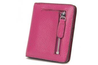 (Purple) - AINIMOER RFID Blocking Women's Leather Clutch Wallet Card Case Minimalist Waller Thin Wallet (Purple)