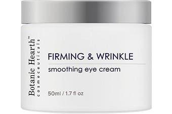 Botanic Hearth Firming & Wrinkle Eye Cream, Anti Ageing Moisturiser for Face & Neck, For Bright and Even Skin Tone, 50ml