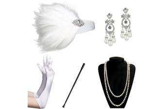 (Accessory 7) - ArtiDeco 1920s Accessories Set Flapper 20s Gatsby Costume Accessories Set Roaring 20s Flapper Accessories