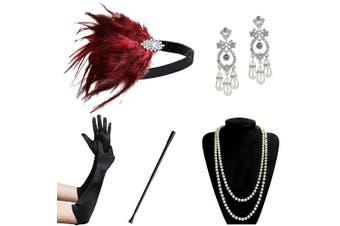 (Accessory 9) - ArtiDeco 1920s Accessories Set Flapper 20s Gatsby Costume Accessories Set Roaring 20s Flapper Accessories