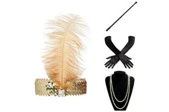 (Accessory 1) - ArtiDeco 1920s Flapper Accessories 20s Gatsby Costume Accessories Set Roaring 20s Flapper Accessories