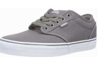 (6 UK, Grey (Pewter/White)) - Vans Men's Atwood Canvas Low-Top Sneakers Grey
