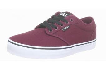 (7.5 UK, Red (Oxblood/White)) - Vans Men's Atwood Canvas Low-Top Sneakers Grey