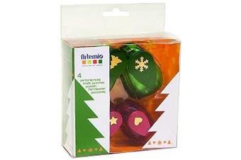 Artemio Kit 4 Punches Christmas, Multi-Colour