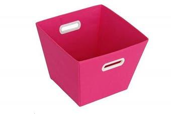 (Pink) - Sukima Decor Basket Storage, Fabric, Pink, 29 x 29 cm