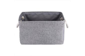 (Gray) - Foldable Storage Bins Fabric Cloth Storage Baskets Towel Laundry Box Container Organisers for Clothes Kids Toy Storage (Grey)