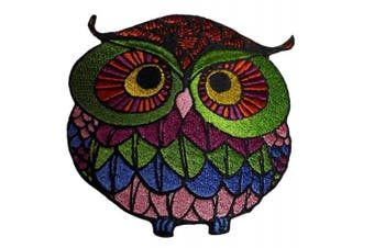 (Medium, 1) - Owl patch iron on embroidered applique bird owls (Medium, 1)