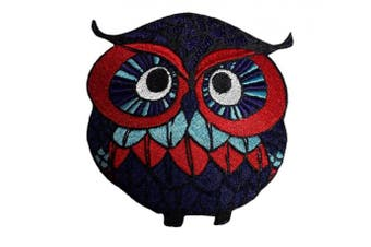 (Medium, 5) - Owl patch iron on embroidered applique bird owls (Medium, 5)